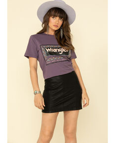 Wrangler Retro Women's Serape Logo Tee, Purple, hi-res