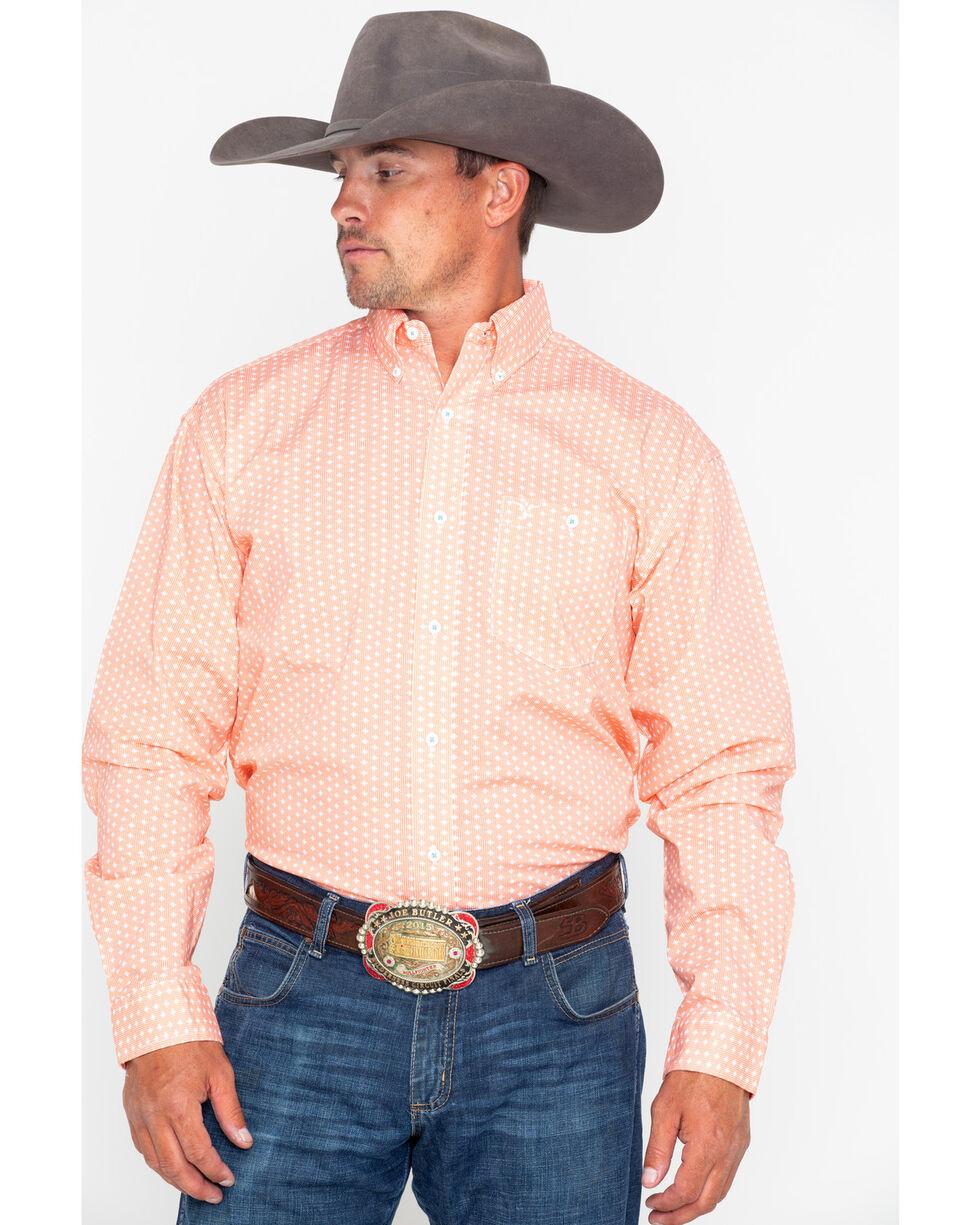Wrangler 20X Men's Orange Competition Advanced Comfort Long Sleeve Western Shirt, , hi-res