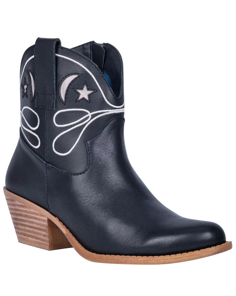 Dingo Women's Black Urban Cowgirl Western Booties - Round Toe, Black, hi-res