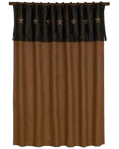 HiEnd Accents Laredo Star Shower Curtain, Multi, hi-res