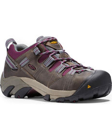 Keen Women's Steel Toe Water Resistant Work Shoes, Grey, hi-res