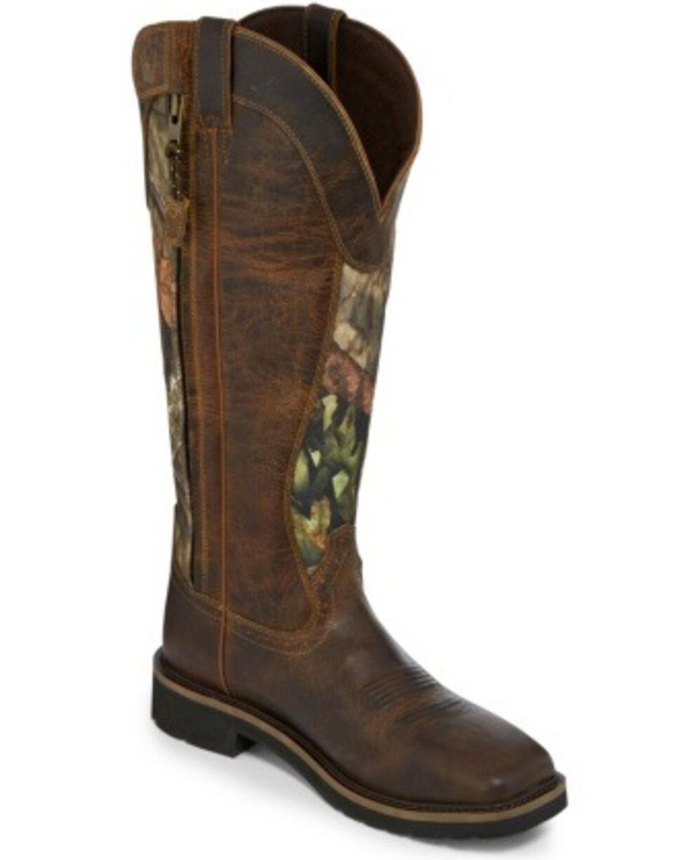 Justin Men's Shrublands Waterproof Western Work Boots - Square Toe, Brown, hi-res