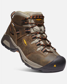 Keen Men's Detroit XT Waterproof Work Boots - Soft Toe, Brown, hi-res