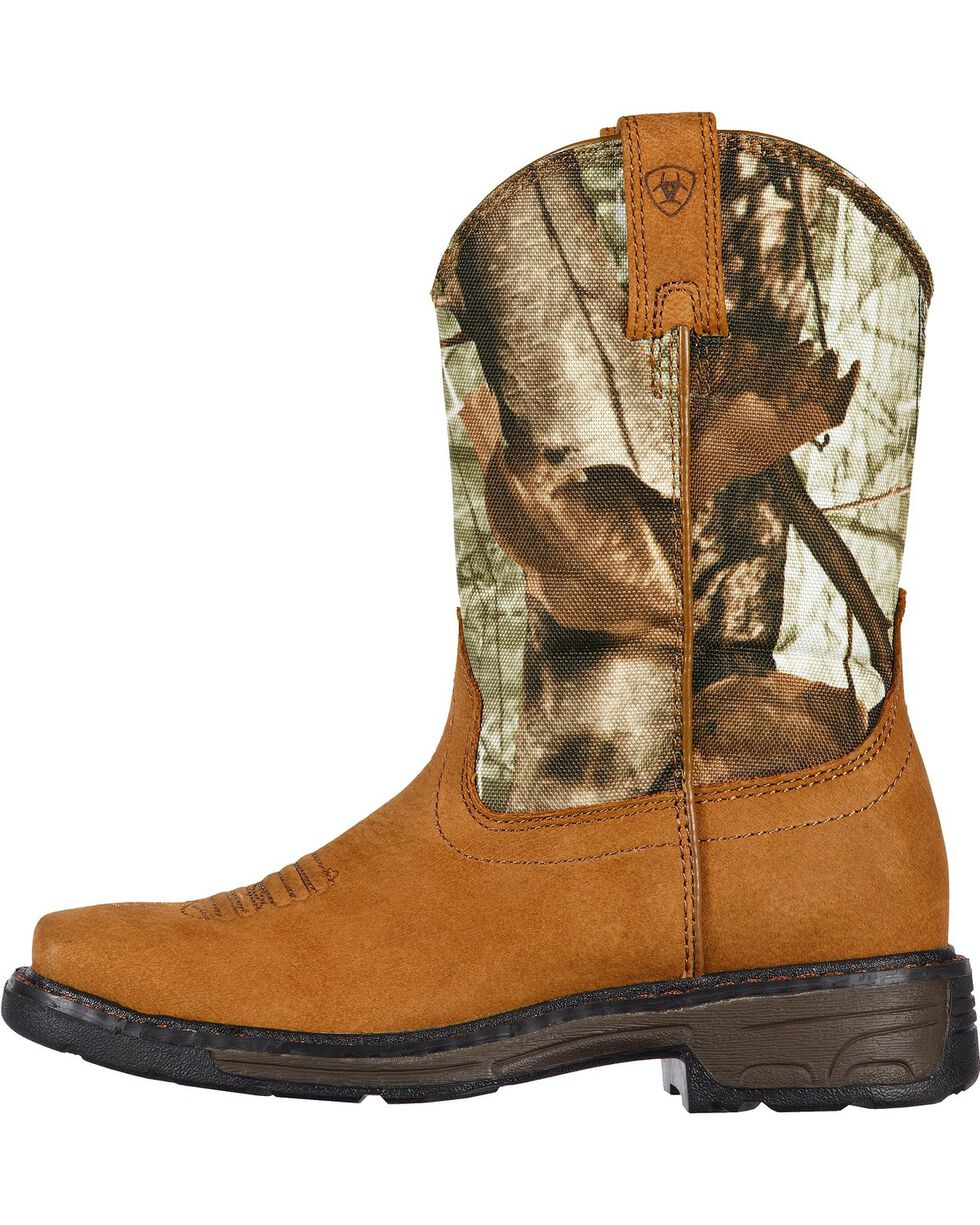 Ariat Kid's Workhog Work Boots, Bark, hi-res