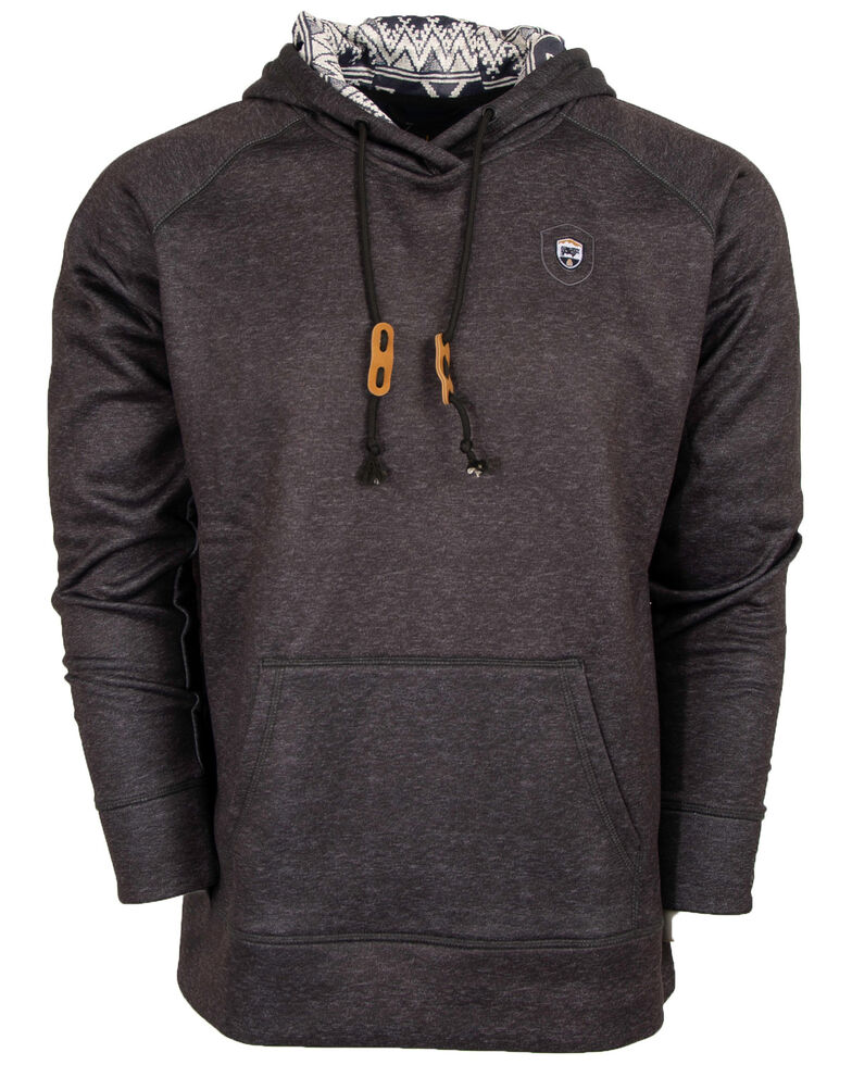 STS Ranchwear Men's Dark Grey Tuscon Hooded Sweatshirt - Big , Dark Grey, hi-res