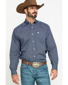 Ariat Men's Wrinkle Free Merritt Small Geo Print Long Sleeve Western Shirt - Big , Multi, hi-res