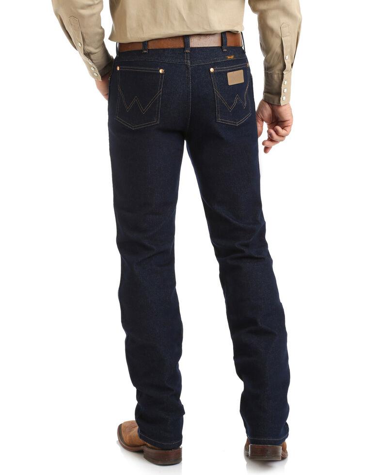 Wrangler Men's Cowboy Cut Active Flex Indigo Dark Bootcut Jeans , Blue, hi-res