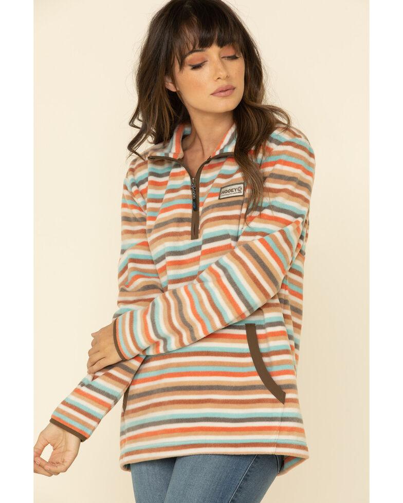 HOOey Women's Stripe Zip Pullover , Multi, hi-res