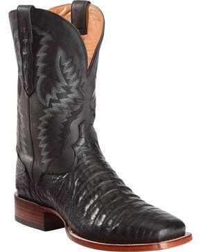 El Dorado Men's Handmade Caiman Belly Stockman Boots - Square Toe, Black, hi-res
