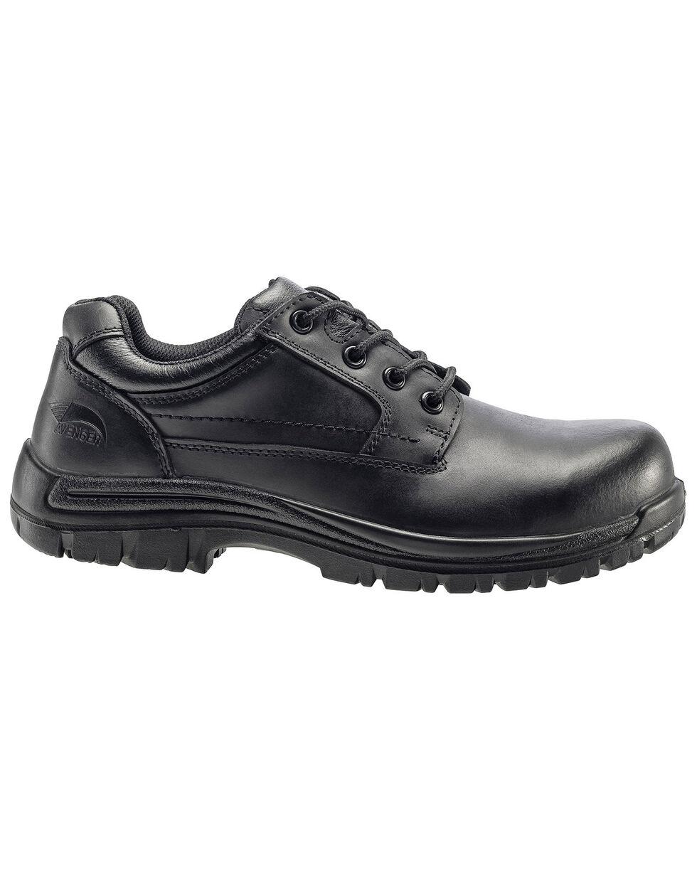Avenger Men's Slip Resistant Oxford Work Shoes - Composite Toe, Black, hi-res
