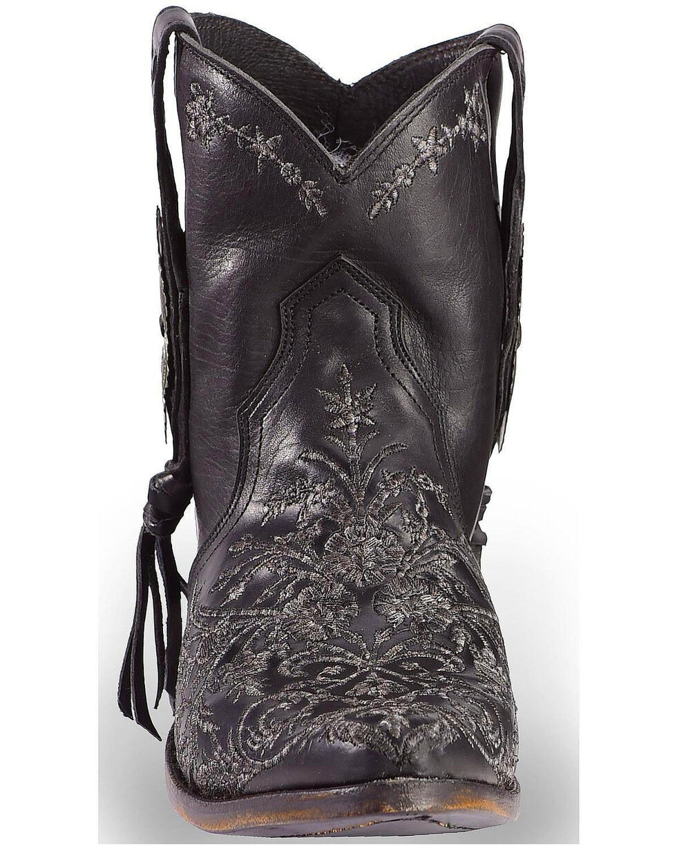Liberty Black Women's Black Wrangler Booties - Pointed Toe , Black, hi-res
