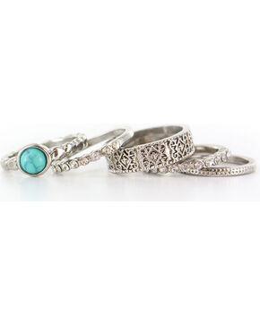 Shyanne® Women's Antiqued Silver-Tone Ring Set, Silver, hi-res