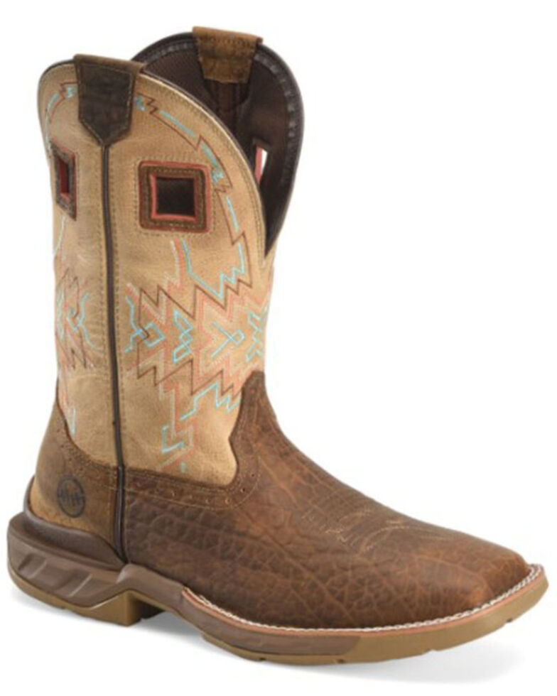 Double H Men's Phantom Rider Western Work Boots - Soft Toe, Medium Brown, hi-res