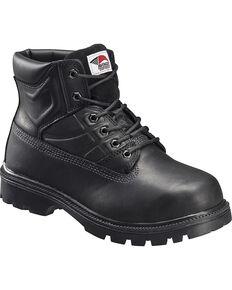 Avenger Men's Lace Up High Heat Steel Toe Work Boots, Black, hi-res