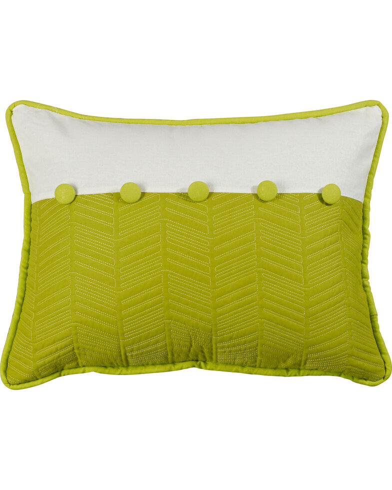 "HiEnd Accents Fern and Quilted Pillow, 16"" x 21"", Multi, hi-res"