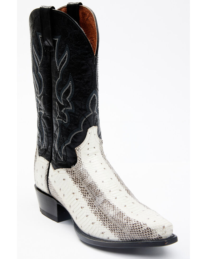 Dan Post Men's Exotic Water Snake Western Boots - Snip Toe, Natural, hi-res