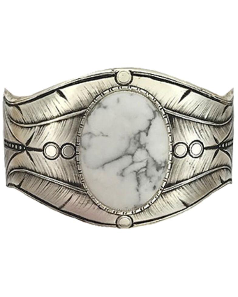 Montana Silversmiths Women's Antique Beaded White Dune Cuff Bracelet, Silver, hi-res
