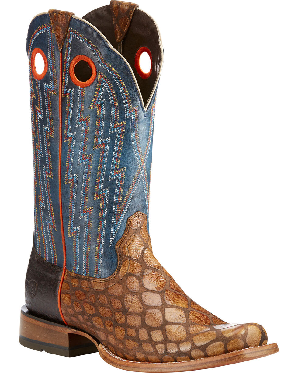 Ariat Men's Tan Tapadero Wildhorse Boots - Square Toe , Tan, hi-res