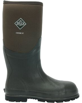 The Original Muck Boot Men's Chore Cool Safety Toe Boots, Brown, hi-res