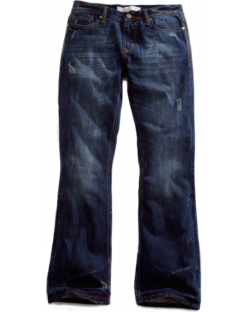 Tin Haul Men's Jagger Fit 2 Deco Stitch Bootcut Jeans, Denim, hi-res