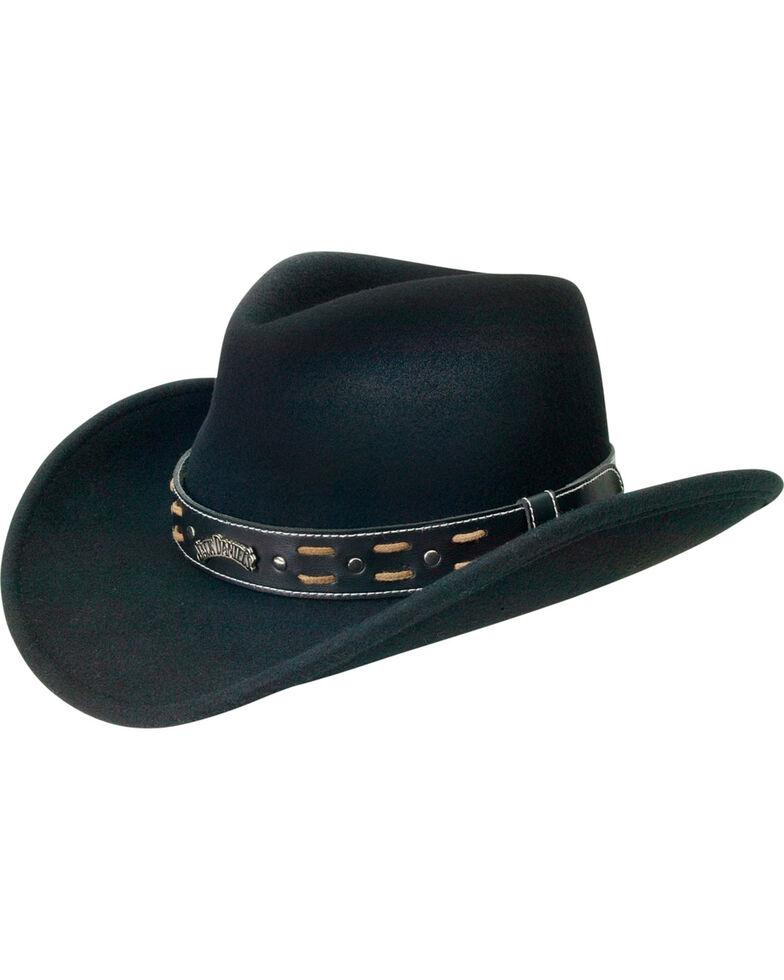 Jack Daniel's Crushable Wool Water-Resistant Hat, Black, hi-res