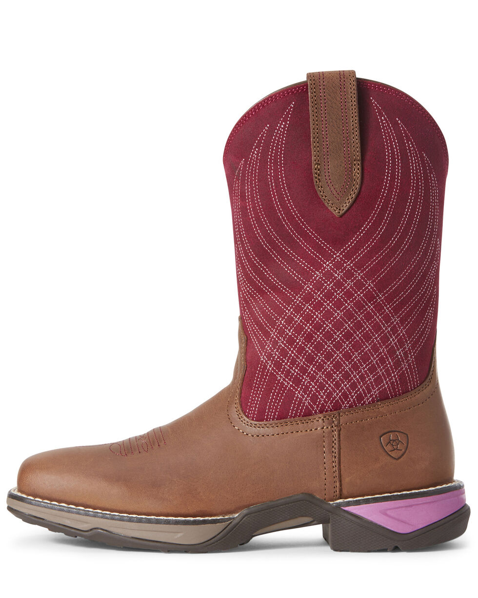 Ariat Women's Anthem Matte Western Boots - Square Toe, Purple, hi-res