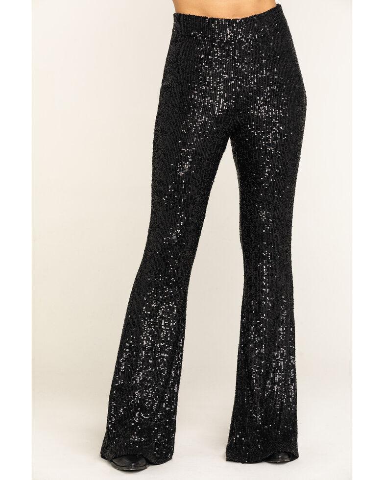Show Me Your Mumu Women's Mercury Bells Limelight Sequin Pants, Black, hi-res