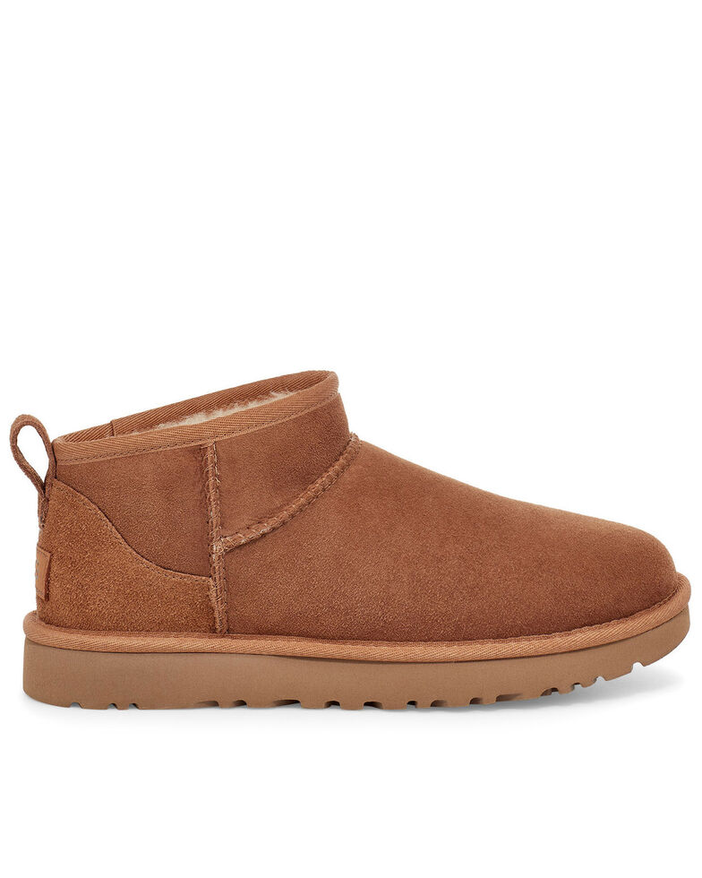 UGG Women's Chestnut Classic Ultra Mini Boots - Round Toe, Chestnut, hi-res