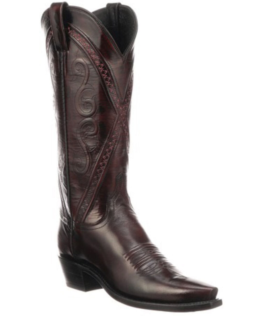 Lucchese Women's Darlene Western Boots - Snip Toe, Black Cherry, hi-res