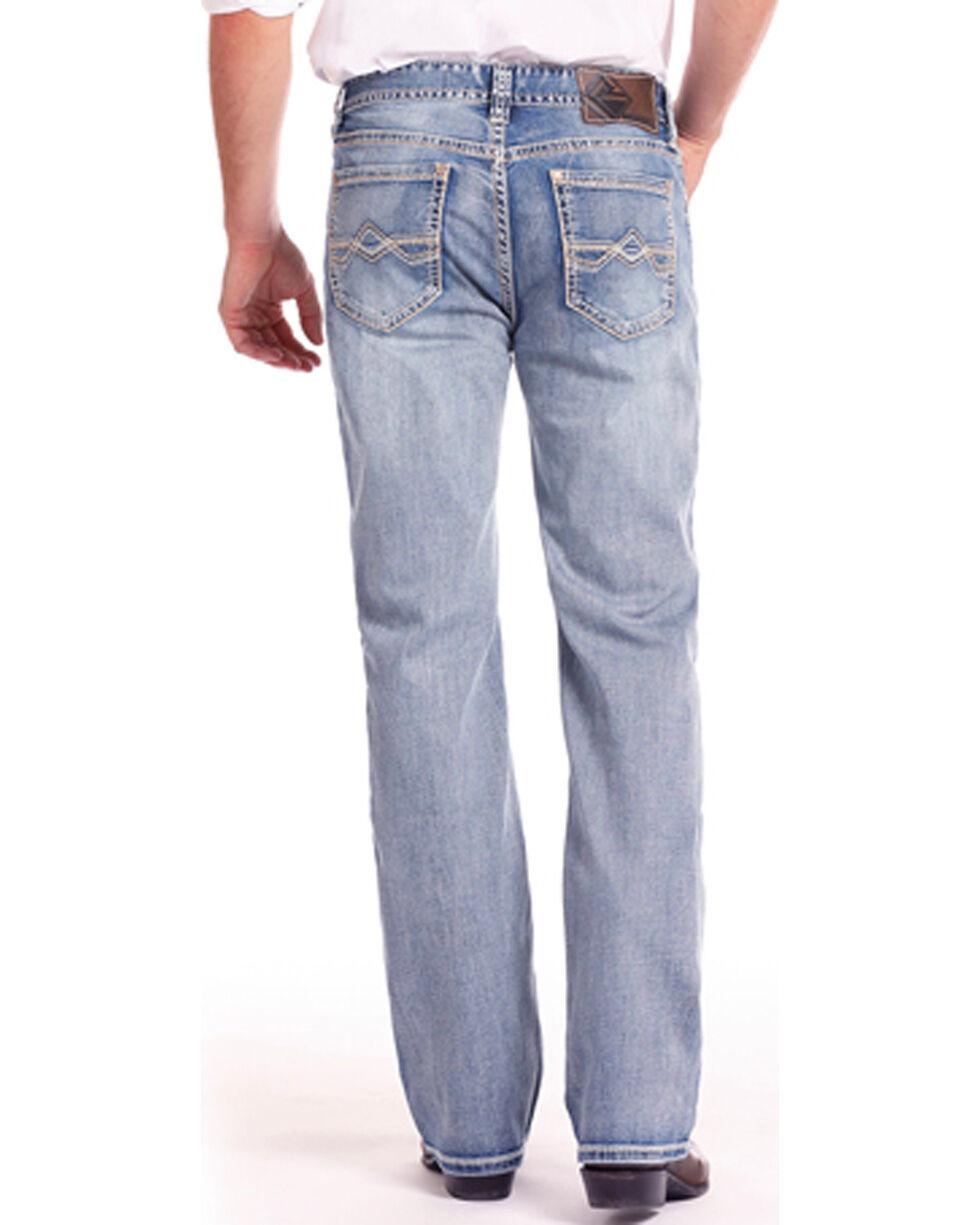 Rock & Roll Cowboy Men's Double Barrel Reflex Relaxed Fit Jeans , Blue, hi-res