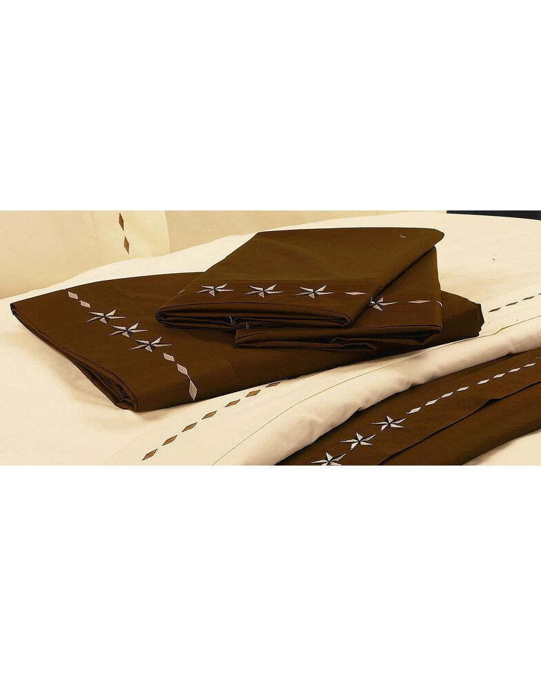 HiEnd Accents Star Sheet Set - Queen, Chocolate, hi-res