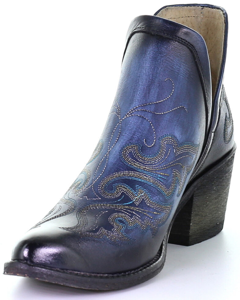 Corral Women's Blue Shortie Fashion Booties - Round Toe, Blue, hi-res