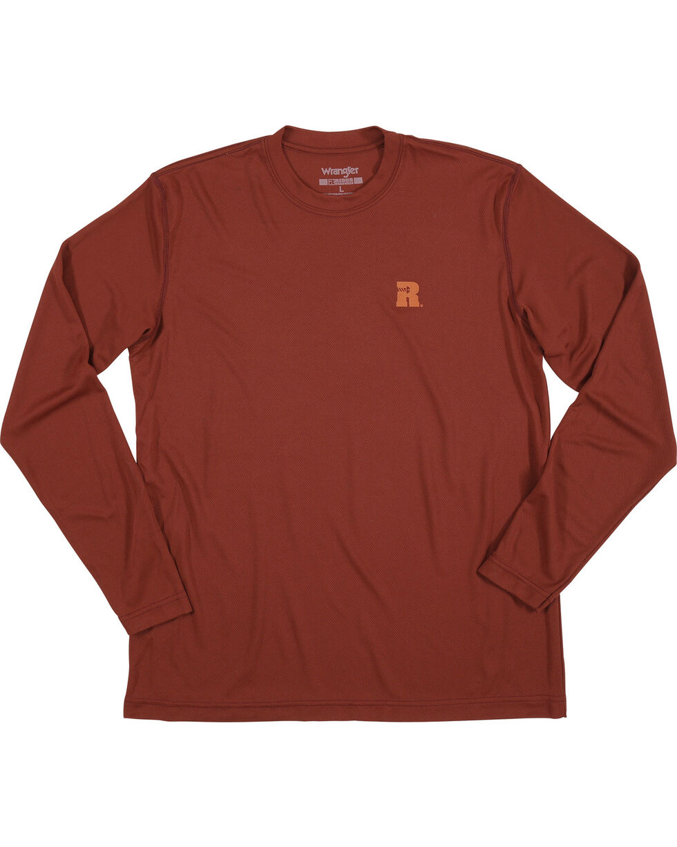 Wrangler Men's Burgundy RIGGS Performance Crew Tee, Burgundy, hi-res