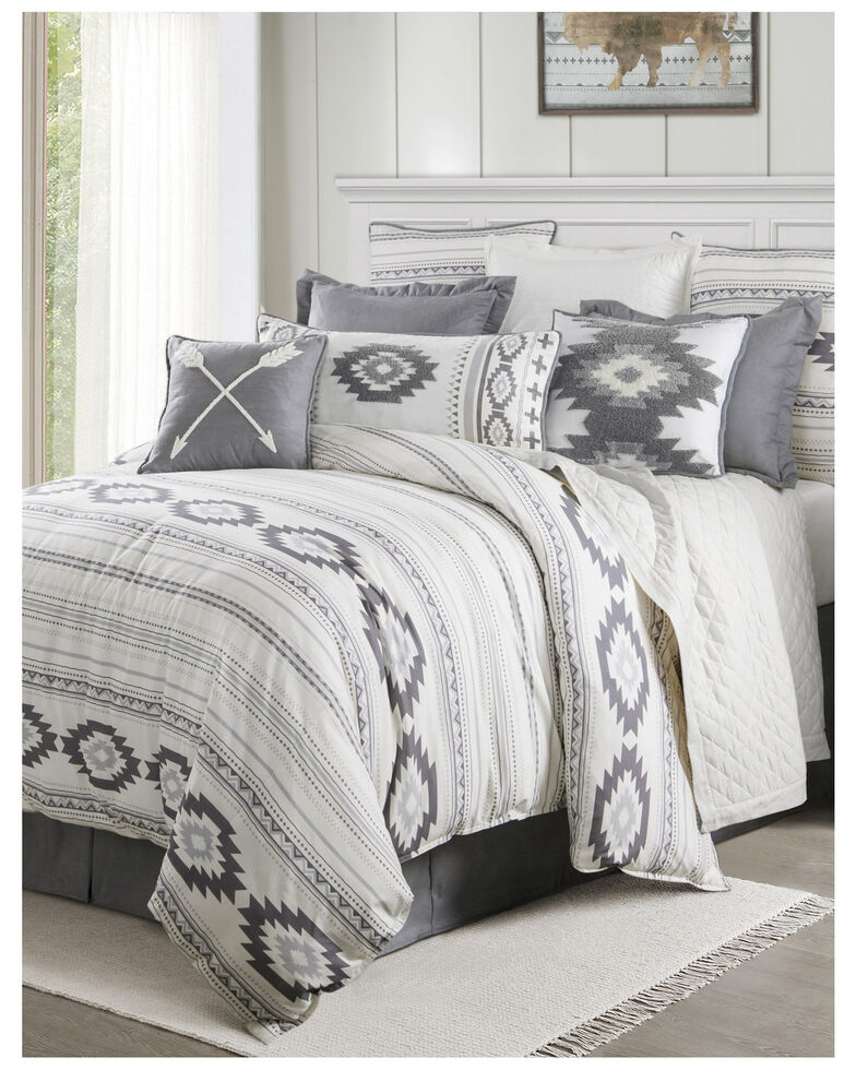 HiEnd Accents Free Spirit Super King Bedding Set, Grey, hi-res
