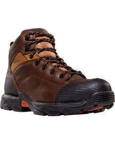"""Danner Corvallis GTX 5"""" NMT Boots - Safety Toe, Brown, hi-res"""