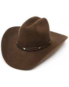 380b8e1a9fa548 Cody James Boys Rambler Shovel Cowboy Hat, Brown, hi-res