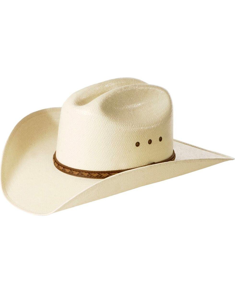 Justin Men's Braided Hat Band Straw Hat, Natural, hi-res