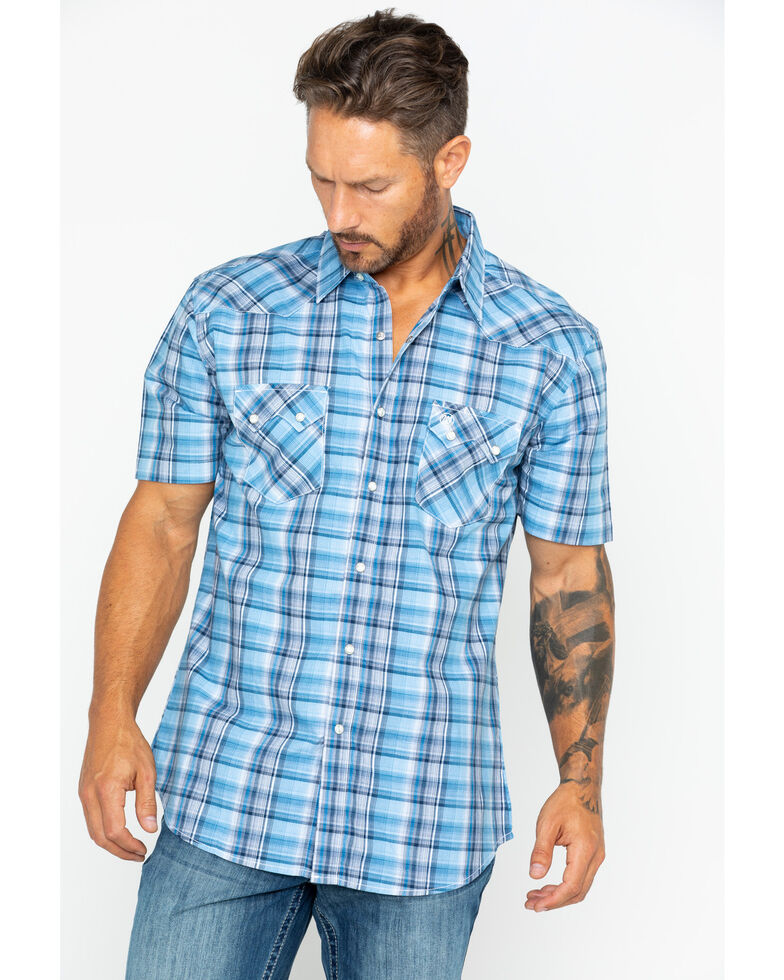 Wrangler Retro Men's Large Plaid Short Sleeve Western Shirt , , hi-res
