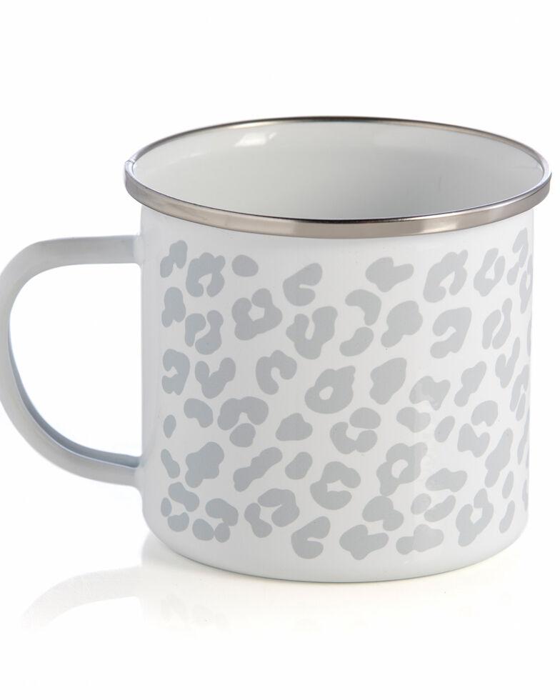 Shiraleah Grey Leopard Print Enamel Mug, Grey, hi-res
