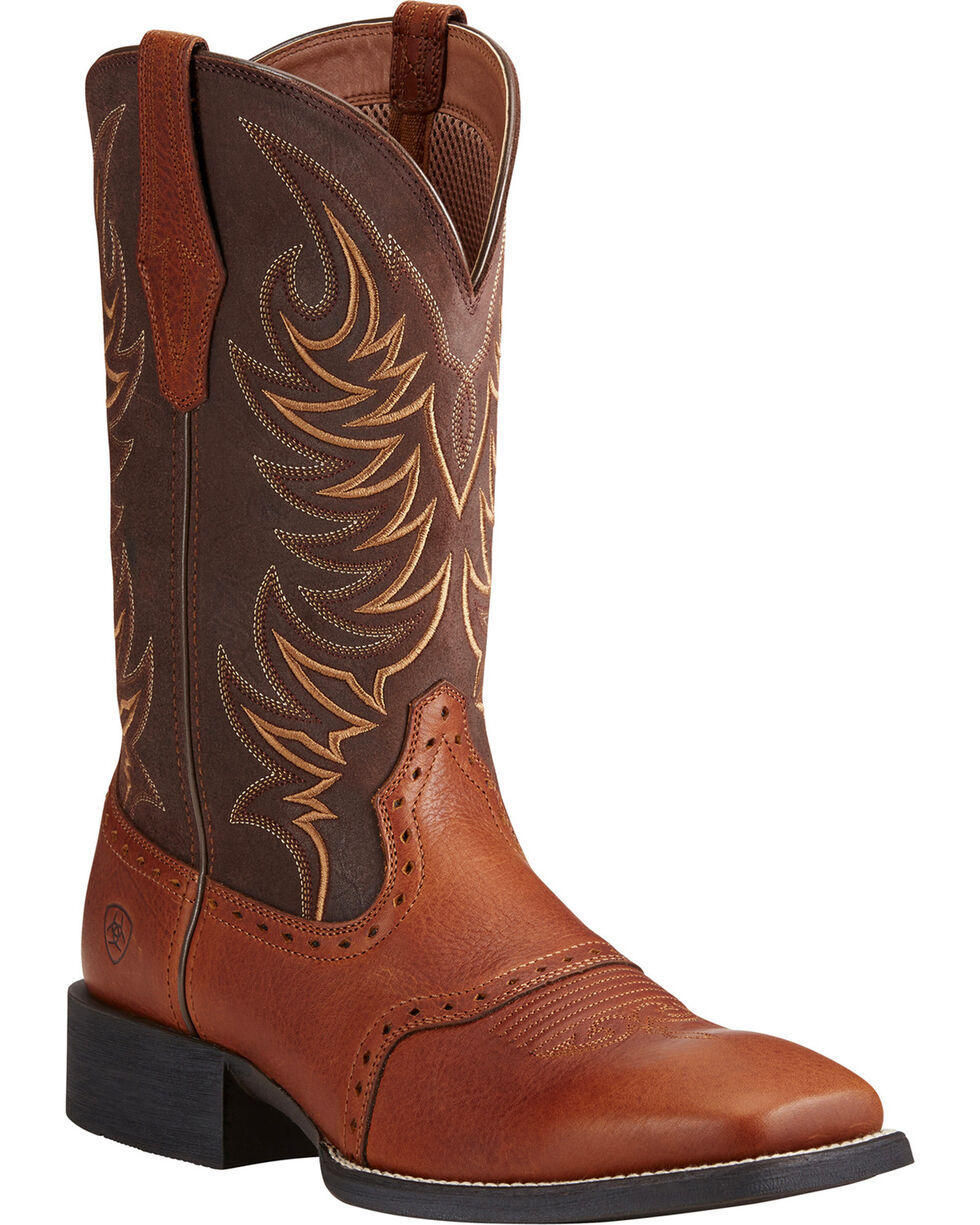 Ariat Men's Sport Sidewinder Western Boots, Lt Brown, hi-res