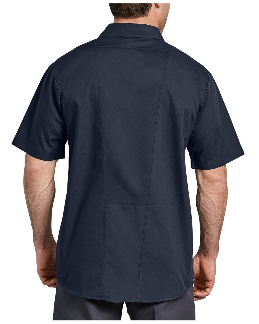 Dickies Men's Industrial Work Tech Ventilated Performance Short Sleeve Work Shirt  , Navy, hi-res