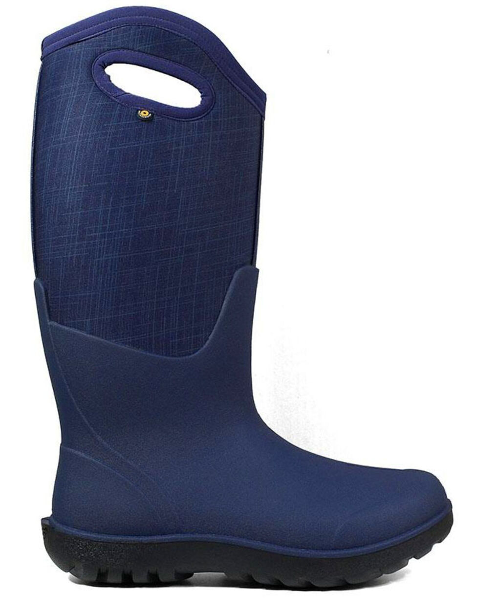 Bogs Women's Neo-Classic Insulated Farm Boots - Round Toe, Blue, hi-res