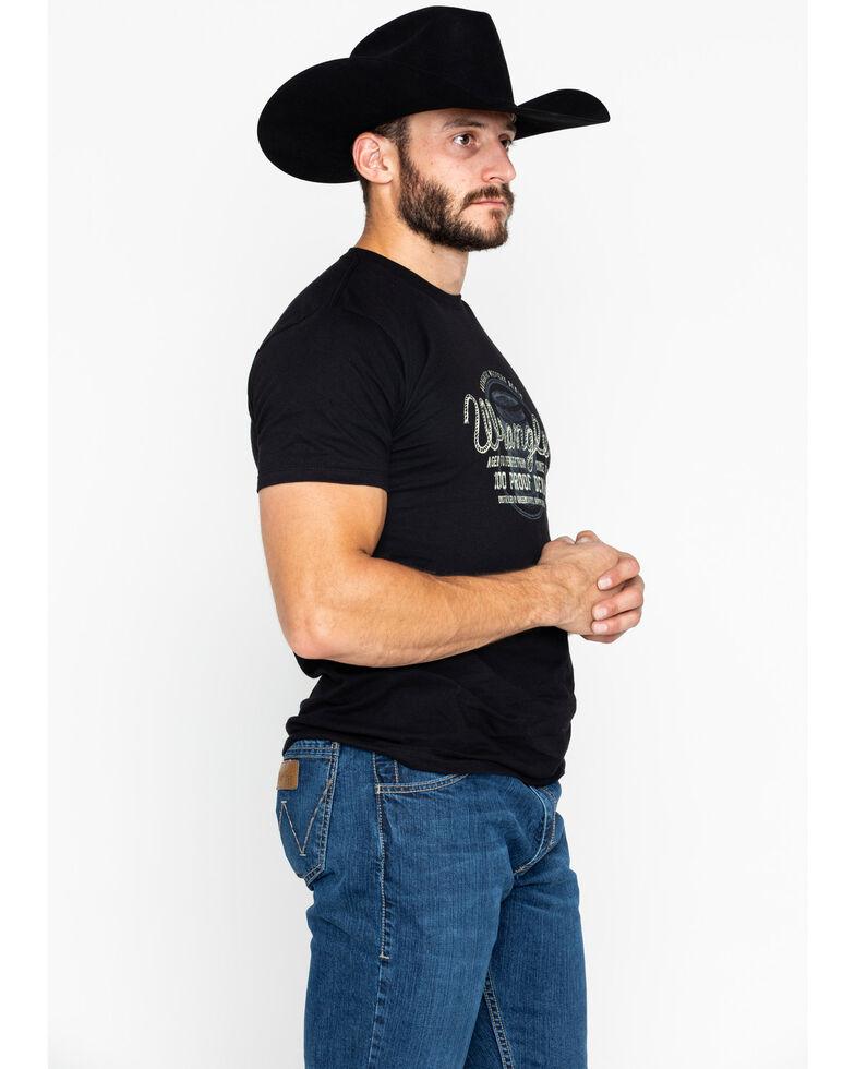Wrangler Men's Barrel 100 Proof Denim Graphic T-Shirt, Black, hi-res