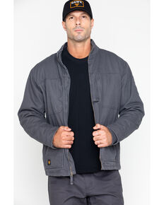 Hawx® Men's Canvas Work Jacket - Big & Tall , Charcoal, hi-res