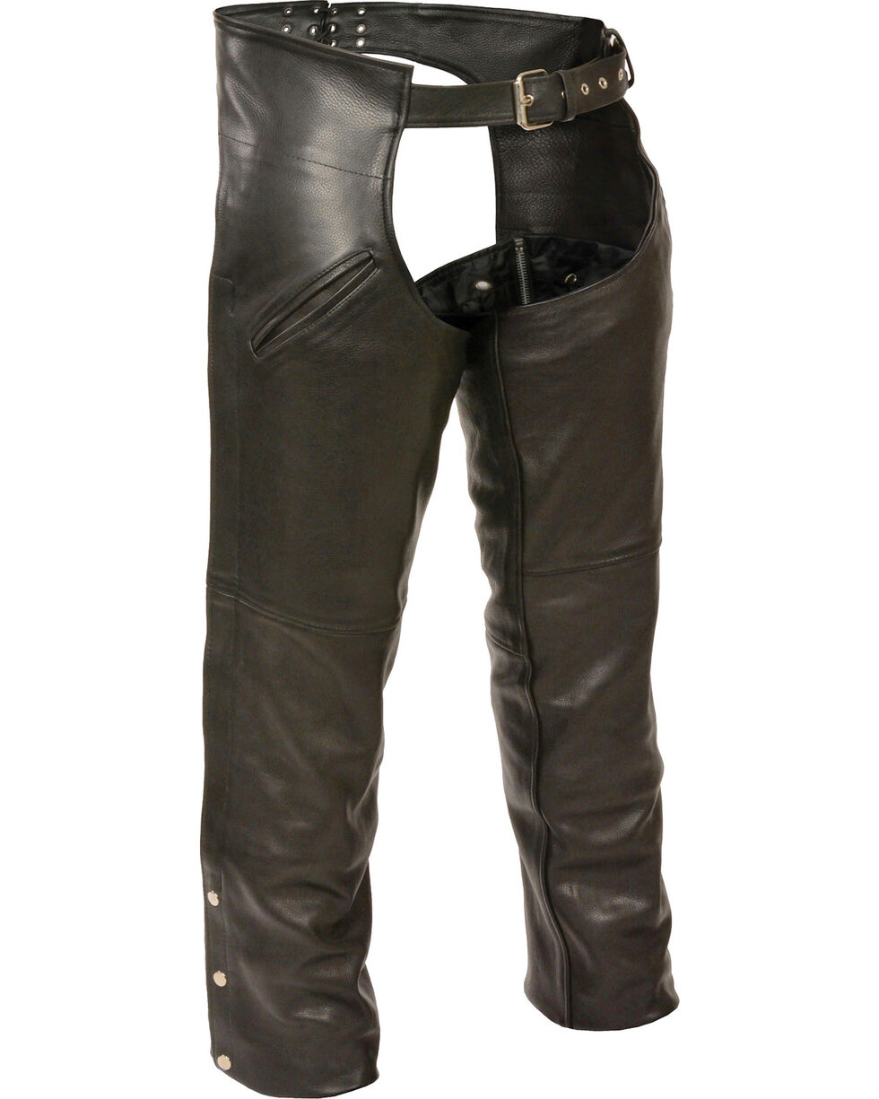 Milwaukee Leather Men's Slash Pocket Thermal Liner Chaps - 5X, Black, hi-res