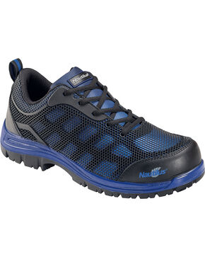 Nautilus Men's EH Comp Toe Slip Resistant Athletic Shoes, Blue, hi-res