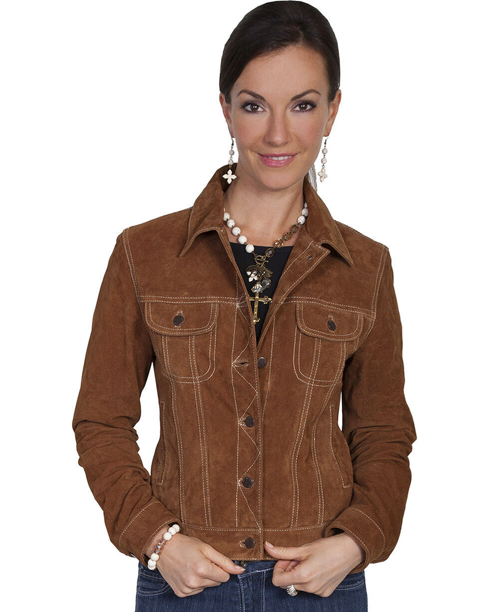 Scully Women's Classic Boar Suede Jacket, Brown, hi-res