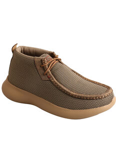 Twisted X Women's Olive Chukka Driving Shoes - Moc Toe, Olive, hi-res