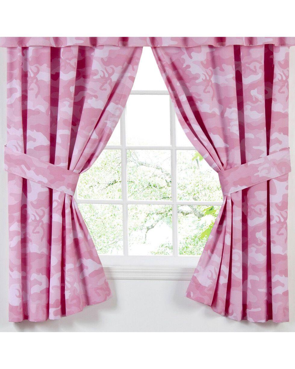 Browning  Buckmark Camo Pink Rod Pocket Curtains, Pink, hi-res