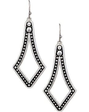 Montana Silversmiths Western Lace Diamond Teardrop Earrings, Silver, hi-res